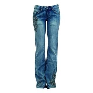 Cowgirl Tuff Western Denim Jeans Womens Studded Max Swirl Lt JSTMAX