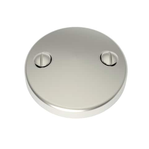"Brasstech 266 3"" Brass Two Hole Faceplate for Overflow -"
