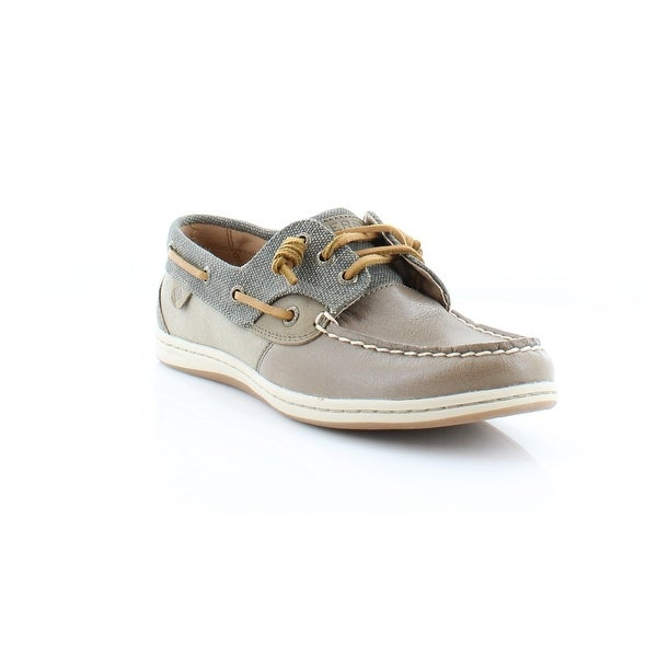 Sperry Top-Sider Songfish Waxy Canvas Women's Flats & Oxfords Taupe