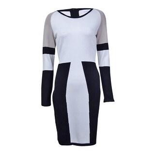 Calvin Klein Women's Colorblock Sweater Dress