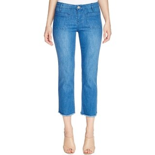 Sanctuary Womens Marianne Straight Crop Jeans Frayed Hem Classic Rise (2 options available)