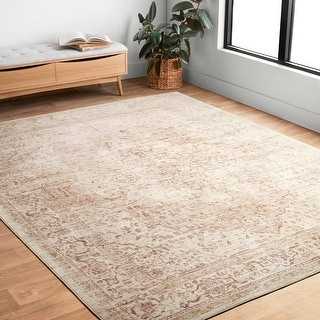 Link to Alexander Home Austen Antique Washed Traditional Inspired Area Rug Similar Items in Rugs