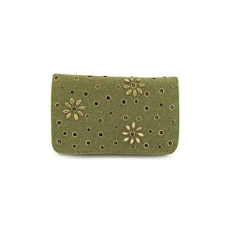 Shiraleah Mira Women Canvas Clutch NWT - Green