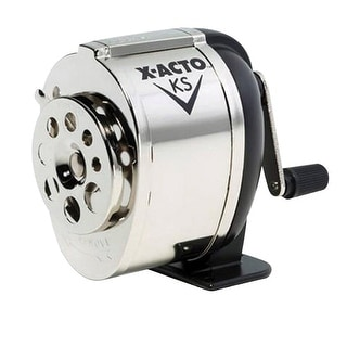 Link to X-ACTO KS Manual Multi-Hole Pencil Sharpener, Black/Chrome Similar Items in Pencil Sharpeners
