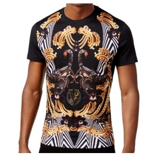 Versace NEW Men's Black Size XS Stretch Graphic-Print Crewneck T-Shirt
