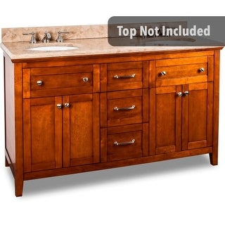Jeffrey Alexander VAN090D-60 59-11/16 Inch Double Free Standing Hardwood Vanity Cabinet Only from the Chatham Shaker Collection