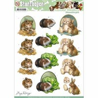Find It Trading Amy Design Animal Medley Punchout Sheet, Fluffy