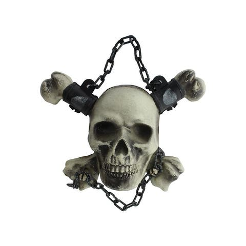30027388 darice hang chained skull bones