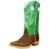 Olathe Western Boots Boys Leather Cowboy Kids Bronc Rider Briar