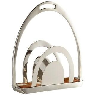 "Cyan Design 08948 Placeholder 6-3/4"" Wide Aluminum Magazine Rack - Nickel"