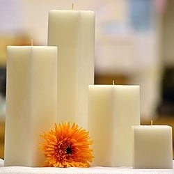 1 Pc White Square Candles 9 Inch 3 in. diameterx9 in. tall