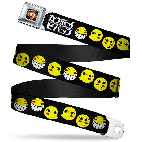 Radical Ed Face Full Color Black Radical Ed Smiley Faces Black Yellow Seatbelt Belt