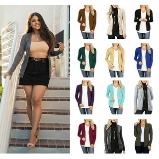 NioBe Clothing Womens Long Sleeve Snap Button Cardigan
