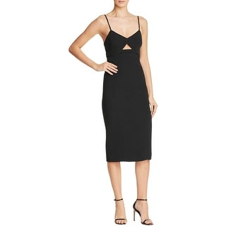 Bardot Womens Liana Party Dress Keyhole Spaghetti Straps