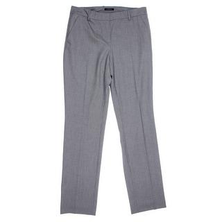 Jones New York Womens Houndstooth Flat Front Straight Leg Pants - 6