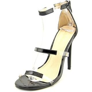 Liliana GOLDEN Women Open Toe Synthetic Black Sandals