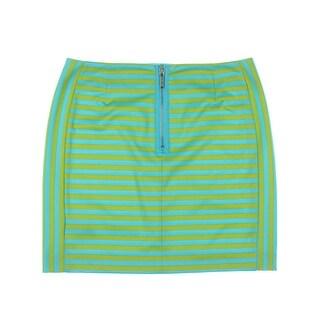 MICHAEL Michael Kors Womens Striped Casual A-Line Skirt
