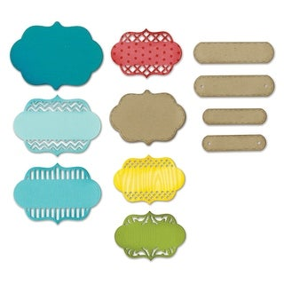 Sizzix Thinlits Dies 12/Pkg -Ornate Labels