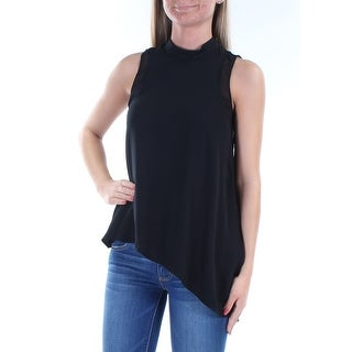 Womens Black Sleeveless Turtle Neck Casual Top Size XL