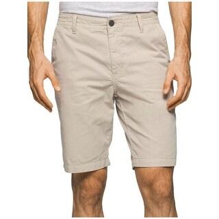 Calvin Klein Jeans Mens Khaki Shorts Cotton Twill