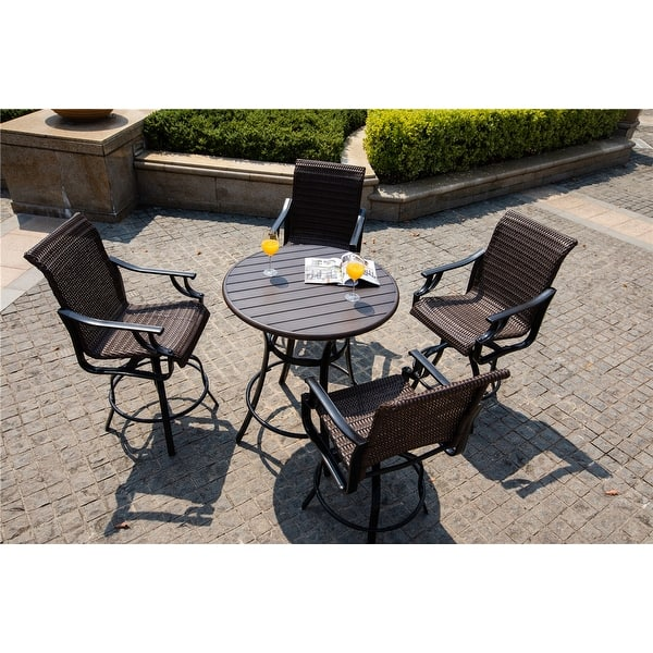 Tufted Chaise Lounge Chair, Shop Outdoor 5 Piece Bistro Set By Direct Wicker On Sale Overstock 31578652