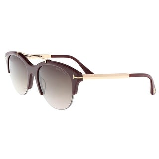 Tom Ford FT0517/S 69T ADRENNE Plum Round Sunglasses - 55-19-140