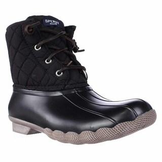 Sperry Top-Sider Saltwater Short Rain Boots, Quilt Nylon Black