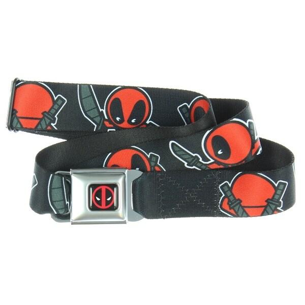 Marvel Deadpool Kawaii Deadpool Turning PosesSeatbelt Belt - Holds Up Pants