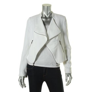 Laundry by Shelli Segal Womens Asymmetric Long Sleeves Open-Front Blazer