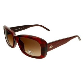 Lacoste L665S 615 Red Horn Rectangle Sunglasses