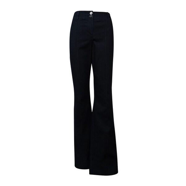Style & Co. Women's Wide Leg Mid Rise Trouser - rinse