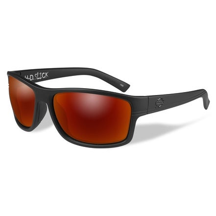 Shop Harley-Davidson Men\'s Slick Sunglasses, Red Mirror Lens / Black ...