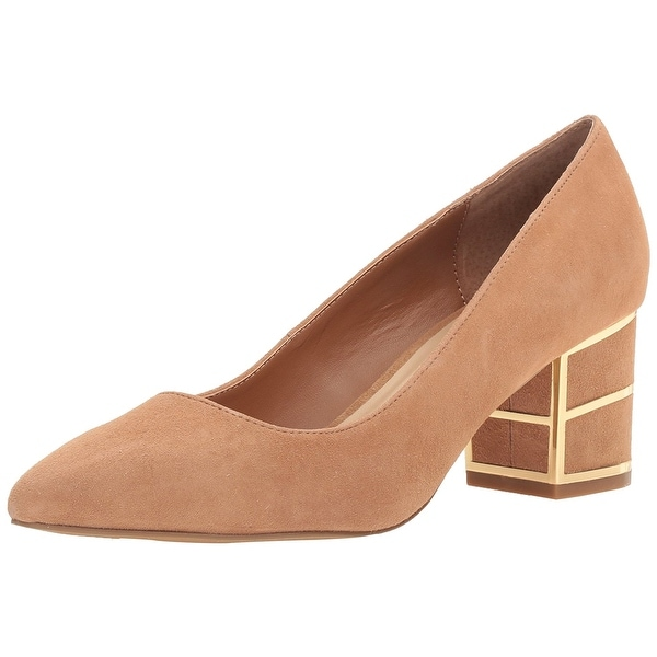 STEVEN by Steve Madden Womens Buena Leather Pointed Toe Classic Pumps