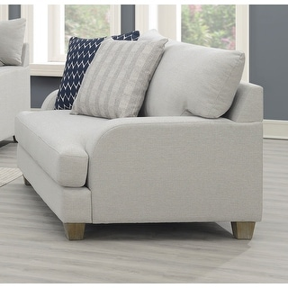 Emerald Home Laney Harbor Gray Farmhouse Style Accent Chair, with Pillows and Removable Cushions