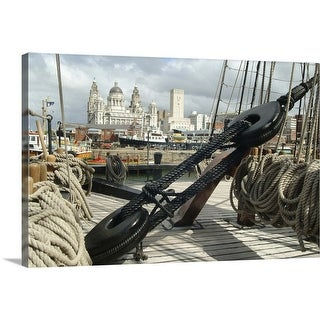 """""""The ropes of a ship at the Mersey River Festival in Liverpool, England, UK"""" Canvas Wall Art"""