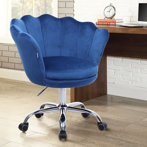 Modern Adjustable Upholstered Velvet Task Chair