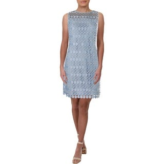 Link to Lauren Ralph Lauren Womens Petites Cocktail Dress Lace Special Occasion Similar Items in Petites