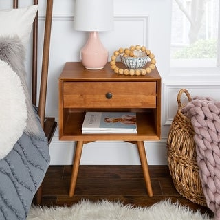 Link to Mid-Century 1-Drawer, Open Shelf Nightstand Similar Items in Living Room Furniture