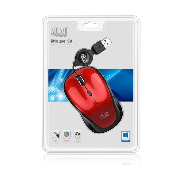 5a7a929d613 Shop Adesso Imouse S8r - Usb Illuminated Retractable Mini Mouse - Free  Shipping On Orders Over $45 - Overstock.com - 21286108