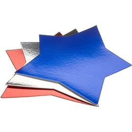 Wilton Red/White/Blue Star Shaped Cake Platters, 3 Count