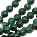 Malachite 4mm Round Beads 15.5 Inch Strand Green Stone - Thumbnail 0