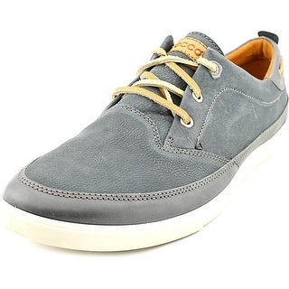 Ecco Collin Men Moc Toe Leather Gray Boat Shoe