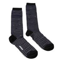 Missoni GM00CMD4589 0003 Striped Blue/Black Boot Socks - M