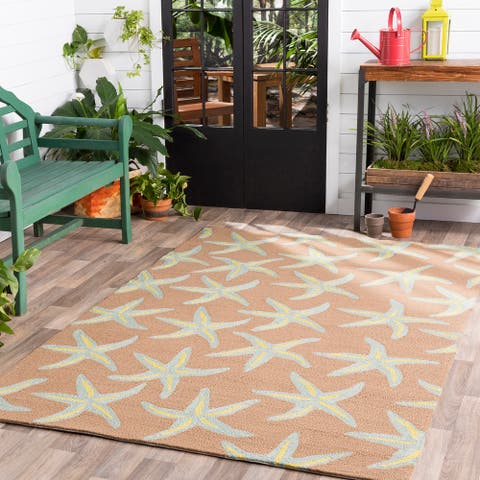Gwynn Handmade Starfish Indoor/outdoor Area Rug - 5' x 8' by Havenside Home