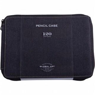 Global Art 259120 Canvas Pencil Case Holds 120 - Black