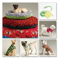Dog Bed In 3 Sizes, Leash, Case, Harness Vest and Coat-All Sizes in One Envelope -*SEWING PATTERN*