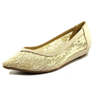 CL By Laundry Samantha Women Pointed Toe Canvas Tan Flats