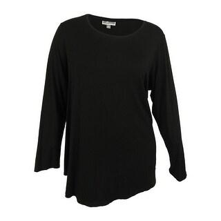 JM Collection Women's Scoop Neck Long Sleeve Top - 3x