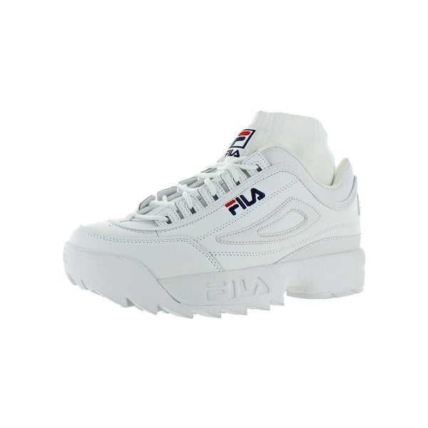 97cecd29cf4f Fila Womens Disruptor Evo Sockfit Fashion Sneakers Leather Padded Insole