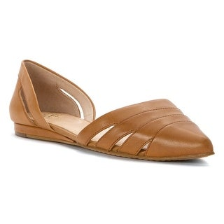 Vince Camuto Womens Halette Leather Pointed Toe Ballet Flats